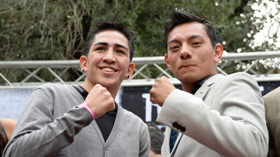 Leo Santa Cruz and Cristian Mijares