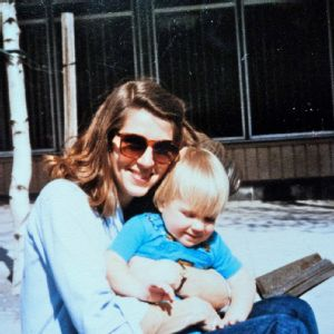 Jamie Greubel with her mom, circa 1985.