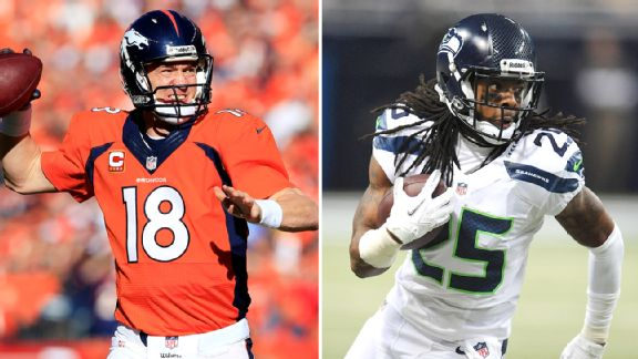 Peyton Manning and Richard Sherman