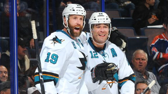 Joe Thornton and Patrick Marleau