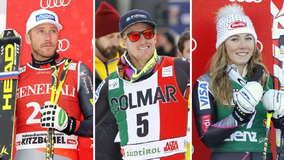 Bode Miller, Ted Ligety, and Mikaela Shiffrin