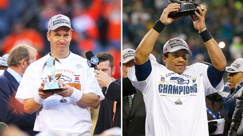 Peyton Manning is 37 and is attempting to be the second-oldest quarterback in history to win the Super Bowl. Russell Wilson, on the other hand, is 25 and is in his second year in the NFL. The 12-year differential marks the widest gap between ages of starting quarterbacks in Super Bowl history. Youth or experience? Peytons gazillion career yards or Russells incredible numbers from just two seasons? Obviously we wont know the answer to these questions until late Sunday night, but that hasnt stopped everyone from voicing their opinion in the meantime.  (Photo: Getty Images)