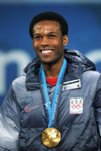 Shani Davis won his second straight Olympic gold medal in the 1,000 meters at the 2010 Vancouver Games.