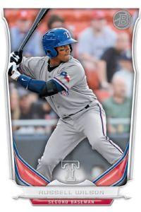 Russell Wilson baseball card