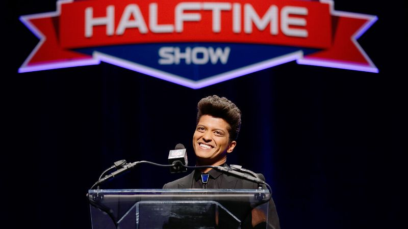 Bruno Mars might have taken the bolo tie cue from Chargers quarterback Philip Rivers, but like Rivers, hes a bit underqualified for the high stakes of the Super Bowl stage.