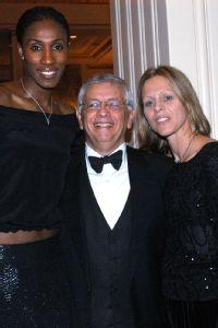 Lisa Leslie, David Stern & Val Ackerman