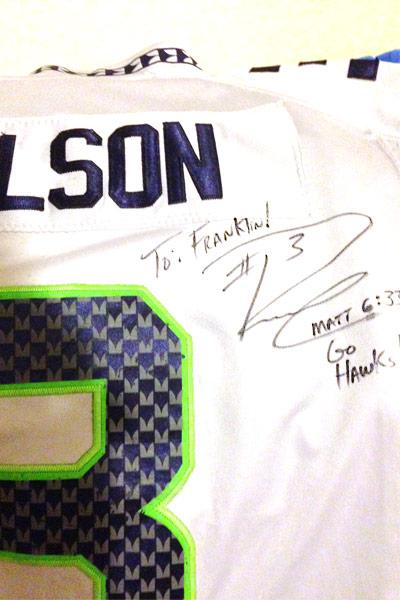 russell wilson game worn jersey