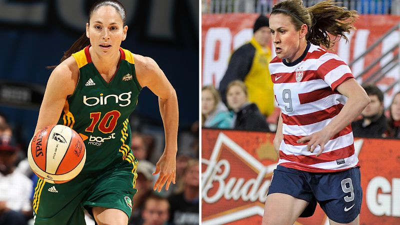 Sue Bird and Heather O'Reilly