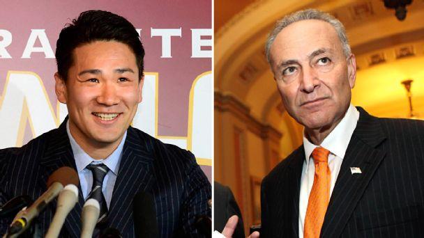 Masahiro Tanaka and Chuck Schumer