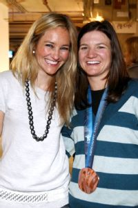 Gretchen Bleiler and Kelly Clark