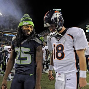 Richard Sherman and Peyton Manning