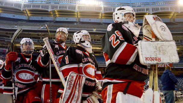 CM hockey at Yankee Stadium