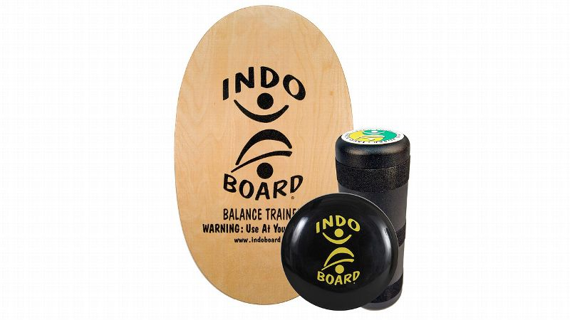 pThe a href=http://indoboard.com/original/original-natural-pack target=newIndo Board/a consists of a skateboard-like wooden deck set on top of a cylindrical roller or an inflated air cushion. You can change the size and length of the deck and/or inflate or deflate the air cushion to change the stability of the surface to mimic real-world athletic situations. Stand on top of the board and perform exercises like squats and dead lifts to take your balance training to another level. Olympians Lindsey Vonn and Hannah Teter and pro surfer Courtney Conlogue (No. 4 on the ASP Women's World Tour) have all used the Indo Board in their strength training and injury rehab sessions. /p