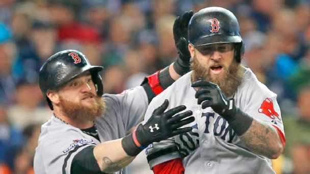 Mike Napoli and Jonny Gomes