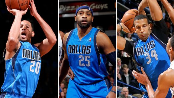 Devin Harris, Vince Carter, and Brandan Wright