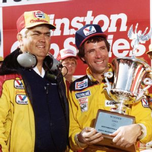 Junior Johnson and Darrell Waltrip