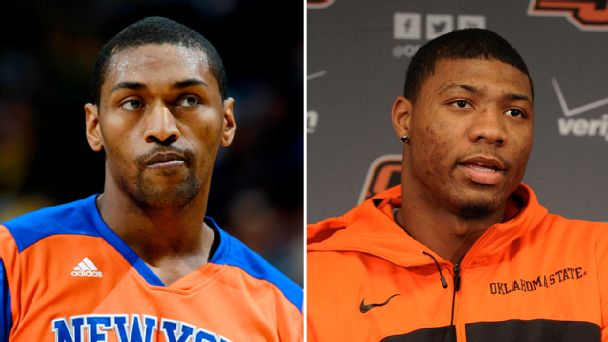 Metta World Peace and Marcus Smart