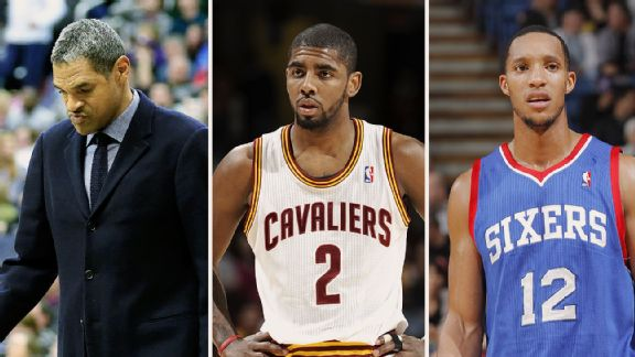 Maurice Cheeks, Kyrie Irving, and Evan Turner