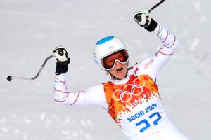 Julia Mancuso won her fourth Olympic medal, a bronze in the super combined.
