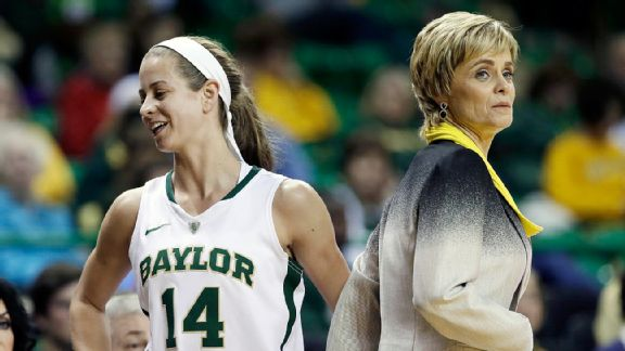 Makenzie Robertson and Kim Mulkey