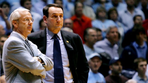 Roy Williams, Mike Krzyzewski