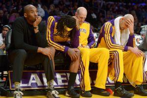 Kobe Bryant, Jordan Hill, Chris Kaman, Robert Sacre