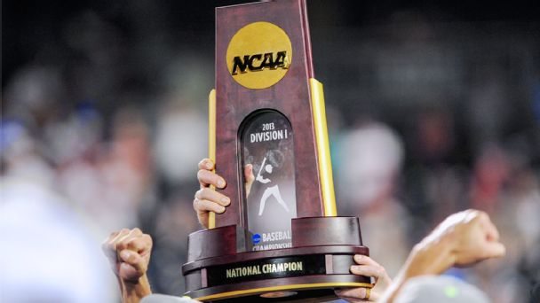 NCAA College World Series trophy