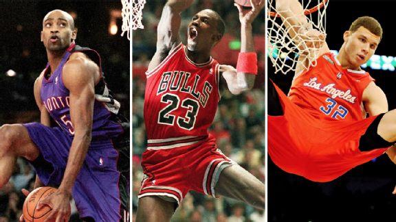 Vince Carter, Michael Jordan, Blake Griffin