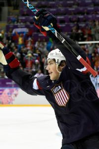 T.J. Oshie, who is 7-for-10 in shootout attempts this season, scored four goals in an epic overtime for the United States.