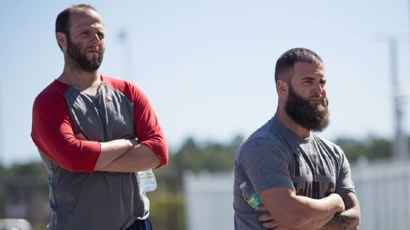 Dustin Pedroia, Mike Napoli
