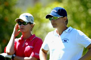 Karrie Webb's achievements have been judged against Annika Sorenstam, who retired after the 2008 season with 72 LPGA titles.