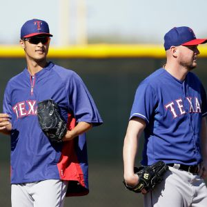 Yu Darvish and Matt Harrison
