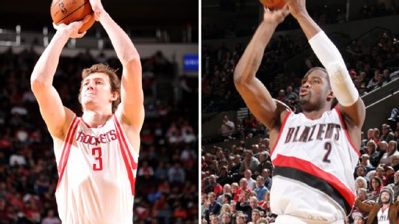 Omer Asik and Wesley Matthews