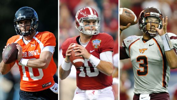 Jimmy Garoppolo, AJ McCarron, and Logan Thomas