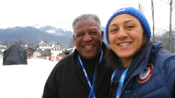 Elana Meyers and Dad