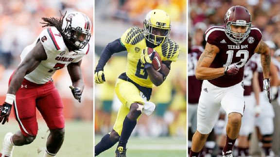 Jadeveon Clowney, De'Anthony Thomas, and Mike Evans