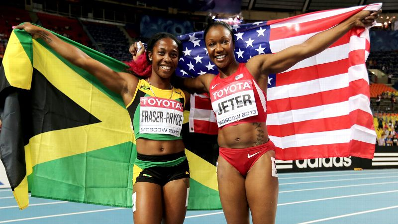The American and Jamaican women have dominated the sprint events in international track for the last several years, with the two countries almost always competing for the top spot in the 100 meters, 200 meters and 100-meter relay. With high-profile runners like Jamaica's Shelly-Ann Fraser-Pryce and Veronica Campbell-Brown and Americans Allyson Felix and Carmelita Jeter constantly trading podium spots,  it's nearly impossible to determine which country has the overall edge in this entertaining rivalry. (Photo: Ian Walton/Getty Images)