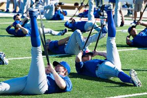 Blue Jays Stretching