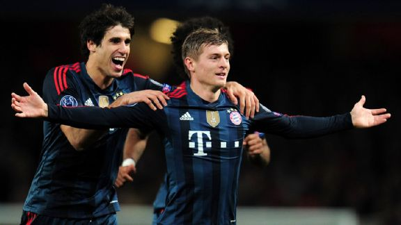 Toni Kroos excelled today as Bayern's counterpoint to Ozil.