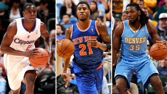 Darren Collison, Iman Shumpert, and Kenneth Faried