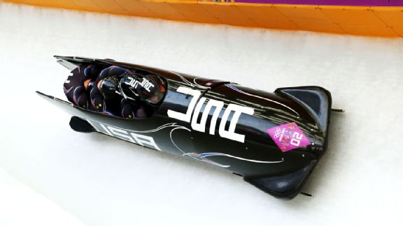 The four-man bobsled team made up a small deficit to jump into the medals on Sunday.