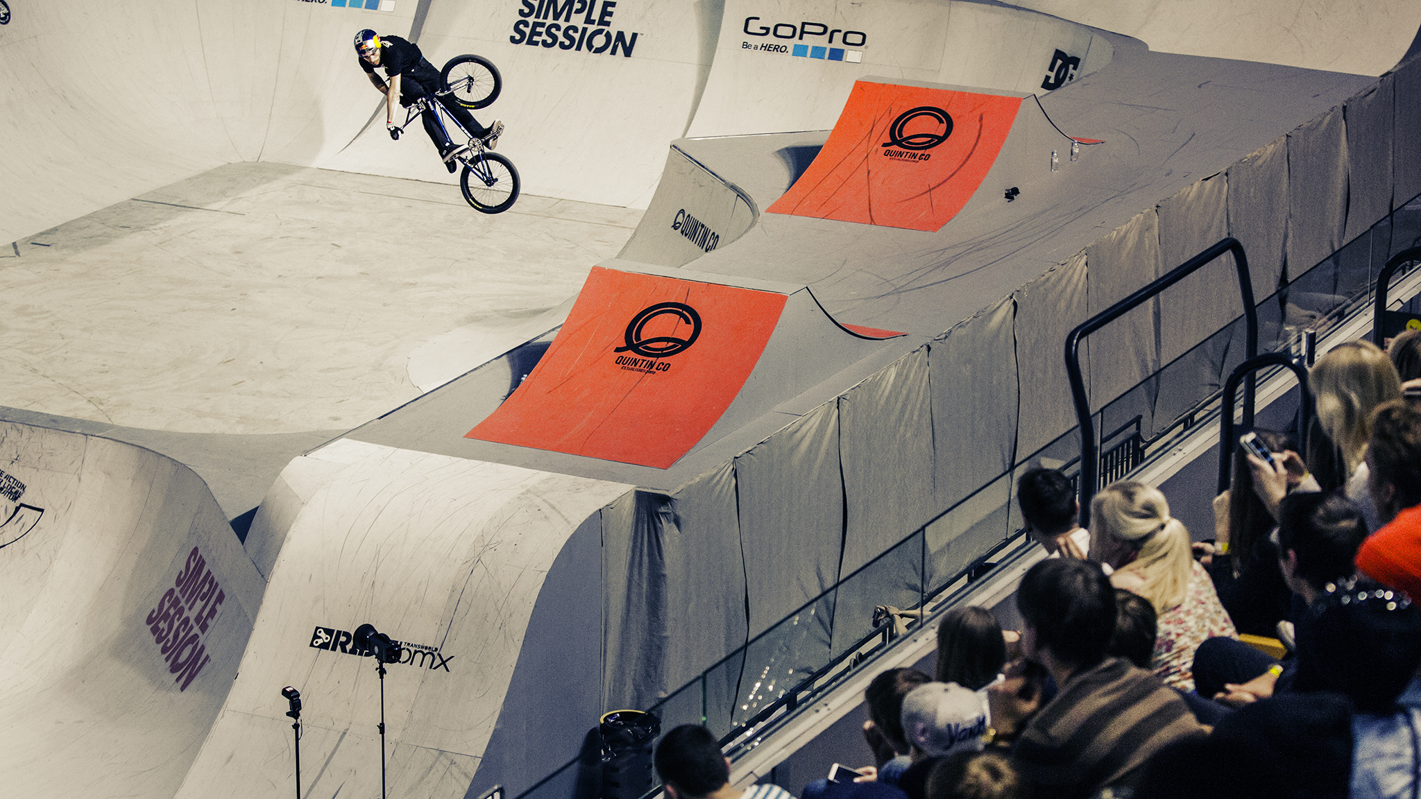 Turndown during BMX qualifying.