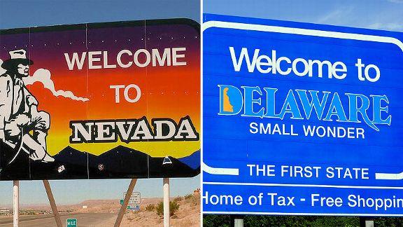 Nevada and Delaware