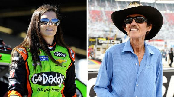 Danica Patrick and Richard Petty