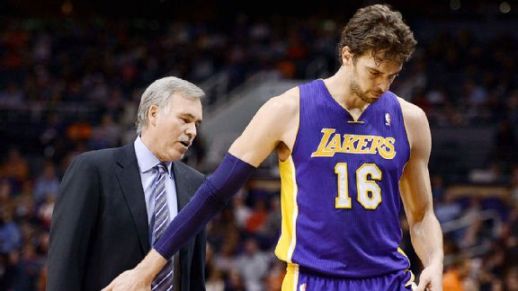Mike D'Antoni and center Pau Gasol