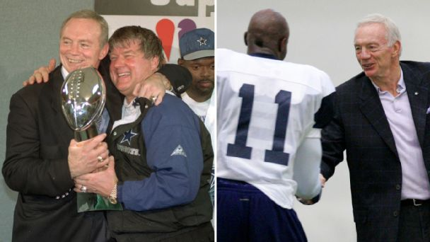 Jerry Jones and Jimmy Johnson/Jerry Jones and Roy Williams
