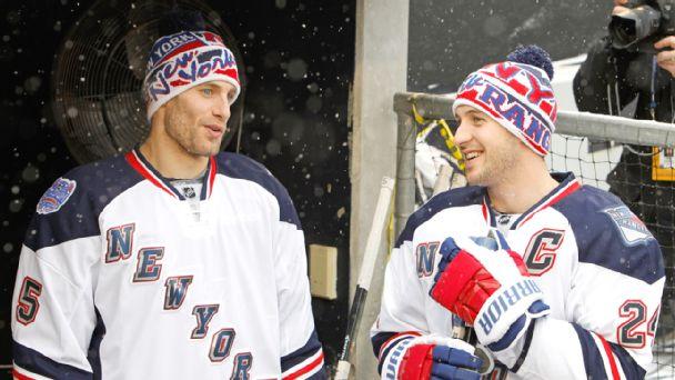 Dan Girardi and Ryan Callahan