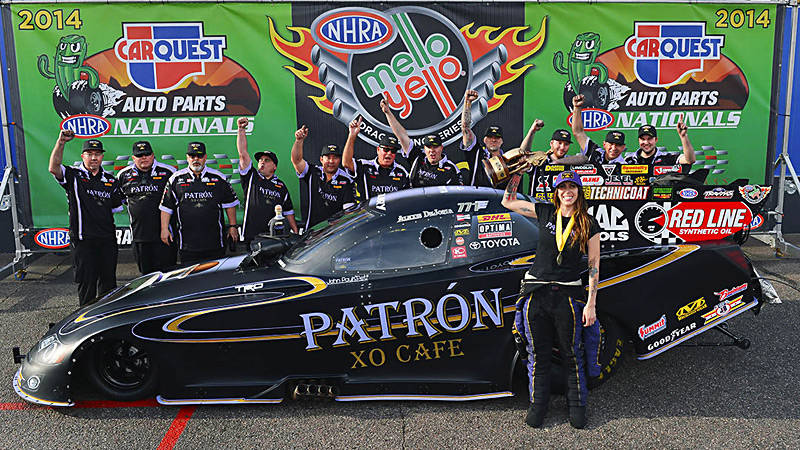 A brand-new look was just the thing Alexis Dejoria needed to spark her first Funny car victory.