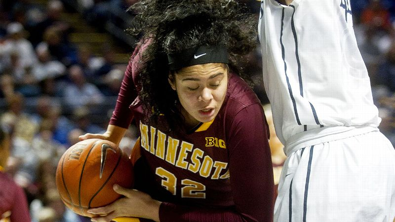 Big Ten: Amanda Zahui B., Minnesota, 6-5, C