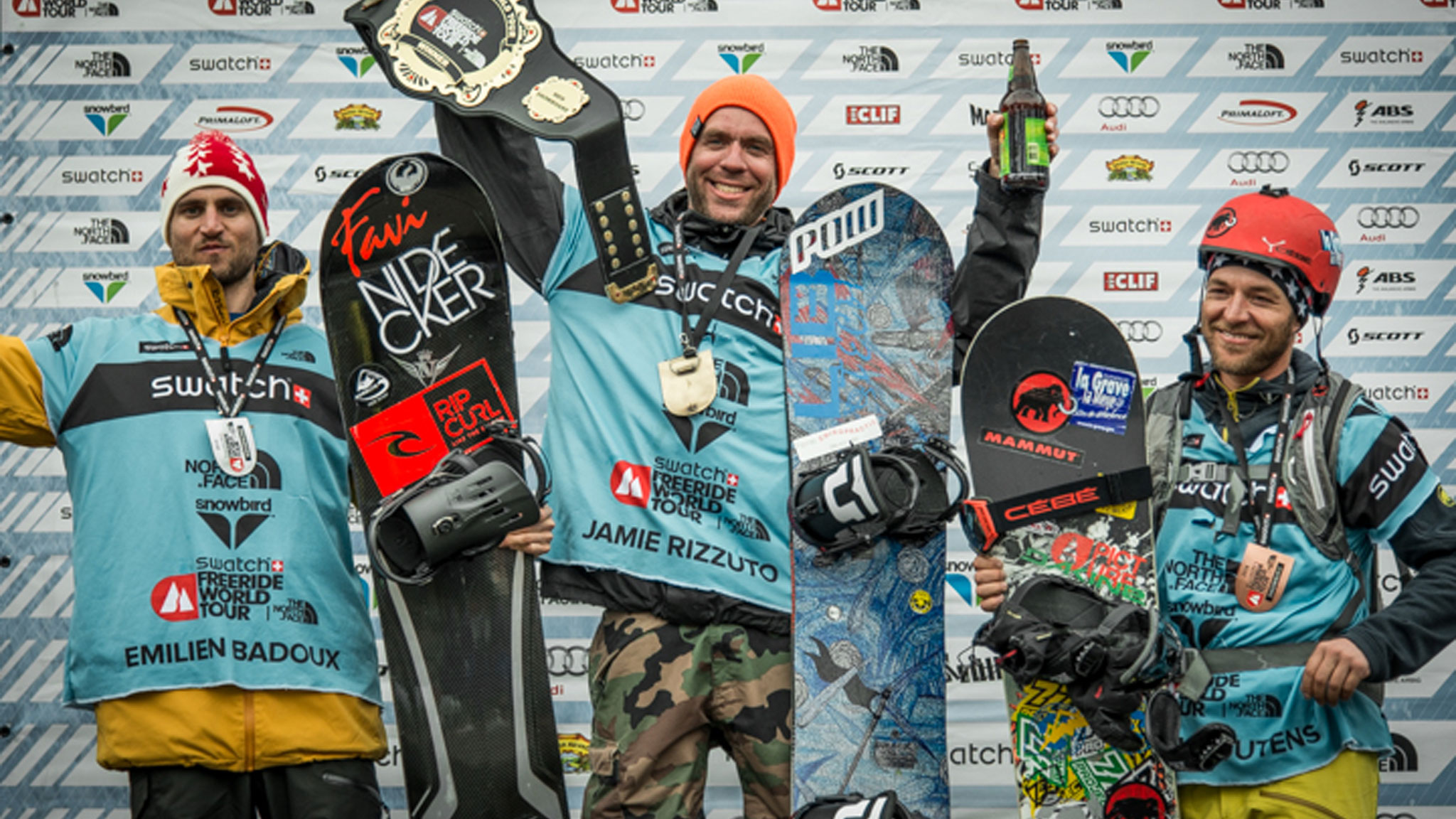 Men's Snowboard Podium